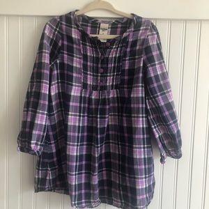OSH KOSH - flowy flannel top